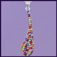Multi-coloured Swarovski Crystal Long Tear Drop